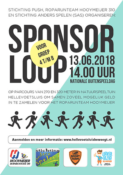 Flyer Sponsorloop NS 13 juni